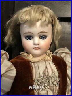 14 Rare Turned Head Belton Sonneberg Type Antique Bisque Doll Spiral Glass Etes