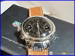 1930's Vintage Rare HEUER Ref 2403 Monopusher Chronograph Watch Fancy Lugs 351