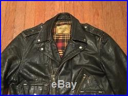 1950s Vintage Alaska Leather Motorcycle Jacket Unique D Pocket RARE! Horsehide