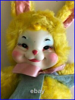 1950s Vintage Rare The Rushton Company Rubber Face Bunny Rabbit Plush