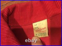 1950s Vintage Workwear Chain Stitch Rollerskate Jacket Talon RARE Buckle Back