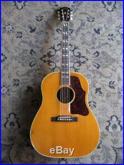 1957 Gibson Country Western acoustic guitar NATURAL FINISH vintage flattop rare