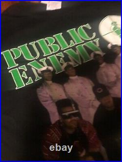 1992 PUBLIC ENEMY vtg rare concert tour t-shirt (XL) 1990's Def Jam Rap Hip-Hop