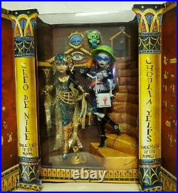 2017 SDCC Monster High Exclusive CLEO DE NILE and GHOULIA YELPS NEW&NRFB Rare