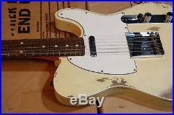 2019 Fender 1960 Telecaster Heavy Relic Aged Vintage White Black Bound Body RARE