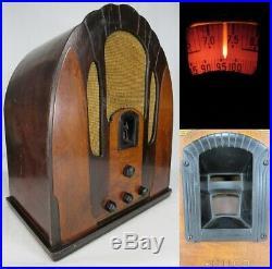ANTIQUE PHILCO CATHEDRAL RADIO model 118 LARGE wood vintage vacuum tube RARE