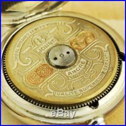 All Original Hebdomas 8 Jours Rare Calendar Dial Day Date 1910' Pocket Watch