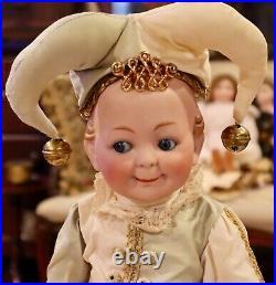 Antique 15 German Bisque Hertel Schwab 172 Extremely RARE Googly Toddler Doll