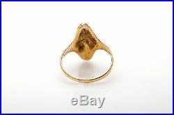 Antique 1850s 24k PURE GOLD NUGGET Mine Cut Diamond 14k Gold Ring RARE GOLD RUSH