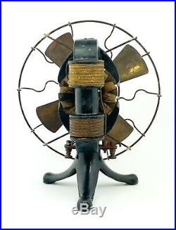 Antique Edison Bipolar Electric Fan Vintage 1890's Rare Original Works See Video