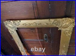 Antique Huge Large Rare Wood Gilt Picture Frame 1900s Victorian Vtg 43x21/51x28