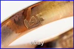 Antique RETRO 1950s 10ct Alexandrite 14k Yellow Gold HALO Ring RARE BIG 6g