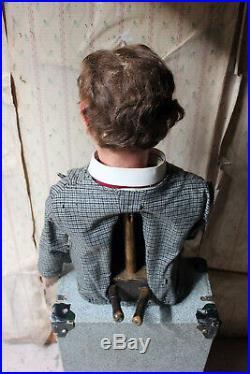 Antique Rare Cased c. 1932 Ventriloquists Dummy By Arthur Quisto