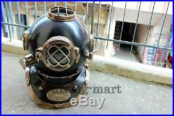 Antique Rare Diving Helmet Vintage US Navy Mark V Deep Sea Marine Divers Scub