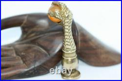 Antique Rare Royal Victorian 1900s Ball Agate Vintage Stamp Wax Dragon Claw Seal