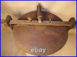 Antique Shears Knife Razor Hone Sharpener Hand Crank Vintage Rare Wet Stone