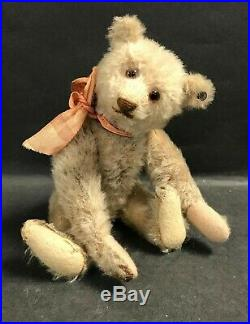 Antique Steiff 1920 White Mohair 9 Rare Teddy Bear