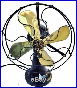 Antique, Vintage 1915 Ge Coin Operated Brass Blade Restored Fan Must See. Rare