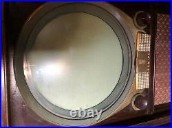 Antique Vintage Television Phonograph Zenith Round Tube Rare