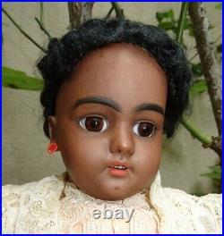 Antique large rare doll black Simon Halbig mold 1079 size 8 (21,45 inches)
