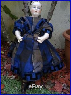Antique very rare fashion doll Rohmer entirely original (14,96 inches) perfect