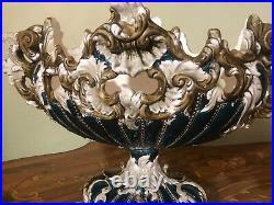 Art Nouveau Austrian Julius Dressler RARE Vintage Retro Majolica Vase