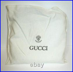 Authentic GUCCI ITALY Vintage White Leather Purse Bag Dust Bag Gold Logo RARE