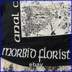 AxCx RARE Vintage 1993 Morbid Florist Relapse Sz L Shirt Seth Putnam Grindcore