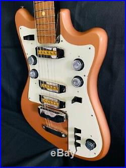 BORISOV SOLO-2 with native cover RARE Vintage Electric Guitar Soviet USSR