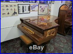 Bluthner Grand Antique Piano Art Case Vintage Rare The Only One Made