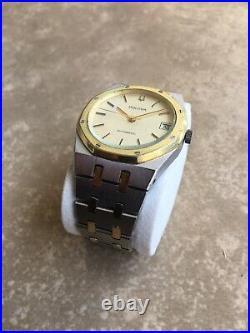 Bulova Royal Oak Automatic Vintage Swiss Men's Wristwatch Very Rare Two Tone