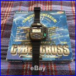 CASIO JG100 JG-100 Cyber Cross Vintage 1994 Game Watch Rare With Box