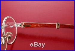 Cartier Giverny Sunglasses Glasses Palisander Wood Platinum Rare Vintage