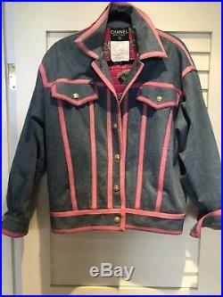 Chanel Iconic F/w1991 Rare Vintage Jacket Denim Perfect Condition Authentic