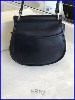 Coach Vintage Post Pouch Navy Blue Crossbody Shoulder Bag Purse USA Mint Rare