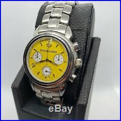 Collectible Rare Vintage Designer FACONABBLE Men Wrist Watch Yellow Round Face