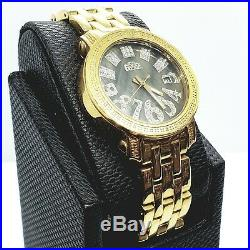 Collectible Rare Vintage Designer FREEZ Watch Round Face with Real Diamonds
