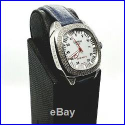 Collectible Rare Vintage Designer Locman Italy Watch with Real Diamonds