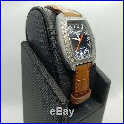 Collectible Rare Vintage Designer Locman Italy Watch with Real Diamonds. SQR