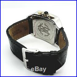 Collectible Rare Vintage Designer ROBERTO CAVALLI Watch Square Face Leather Band