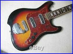 Electric Guitar Sunburst Vintage With Stratabond Laminate Neck Rare Great Sound
