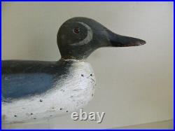 Extremely Rare Pratt Blue Winged Teal Drake Duck Decoy, Not Mason Nice Original