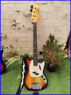 Fender Mustang Bass Guitar Vintage 1973. CBS. Short scale. 30. Sunburst. Rare
