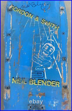 G&S NEIL BLENDER FALLING GUY SKATEBOARD rare vintage santa cruz powell alva og