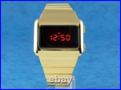 GOLD ELVIS WATCH 1 Old Vintage 1970s Style LED LCD DIGITAL Rare Retro omeg@ TC2