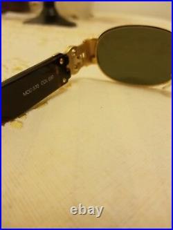 Genuine Rare Vintage GIANNI VERSACE Medusa Sunglasses Tortoise, black lens
