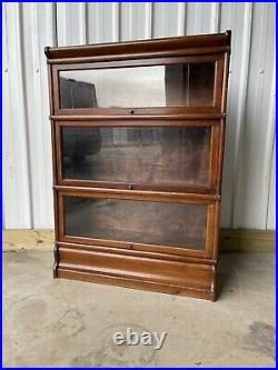 Globe Wernicke Rare Vintage Barristers 3 Bookcase Shelves Library Free Delivery
