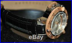 Invicta Men's Rare Subaqua Swiss Silver Dial Black Genuine Leather Watch 1576