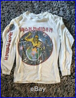 Iron maiden RARE Vintage Original World Peace Tour 83 shirt