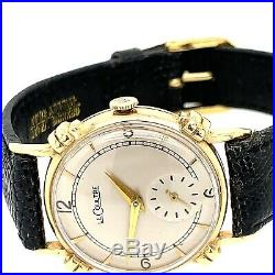 Jaeger LeCoultre 14K Solid Vintage 1940s Watch Knotted Lugs Rare